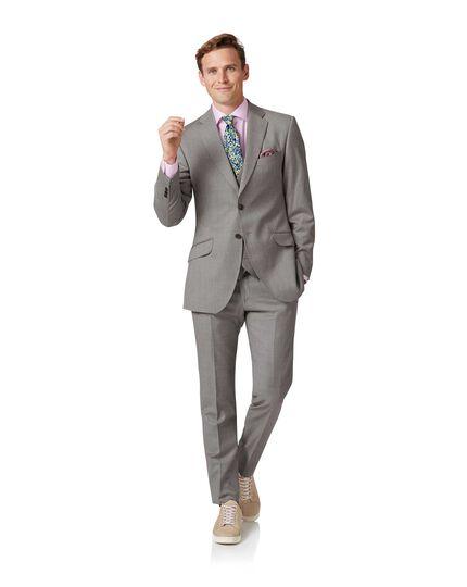 Costume argent en tissu italien slim fit