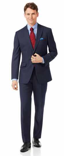 Navy classic fit jaspe business suit