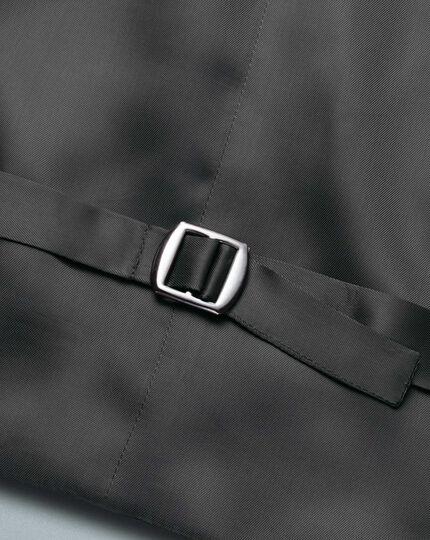 Verstellbare Luxusanzug-Weste aus italienischem Twill in Grau