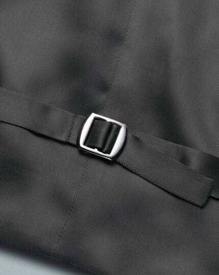 Grey adjustable fit Italian twill luxury suit waistcoat