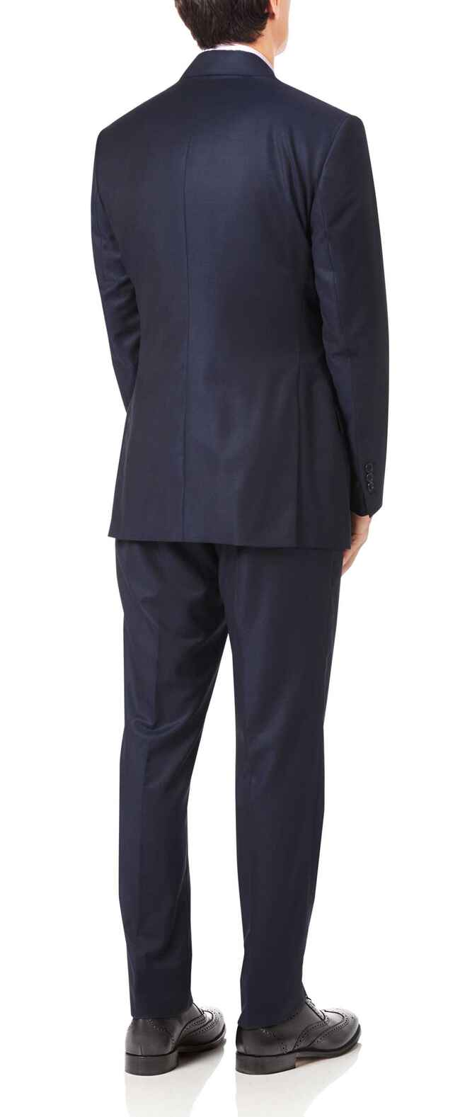 Navy slim fit luxury Italian suit