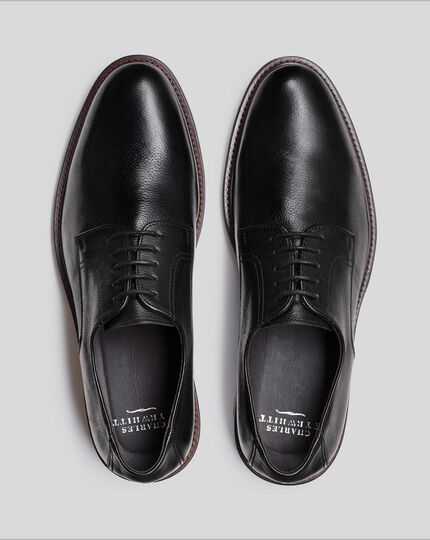Flex Sole Derby Shoes - Black