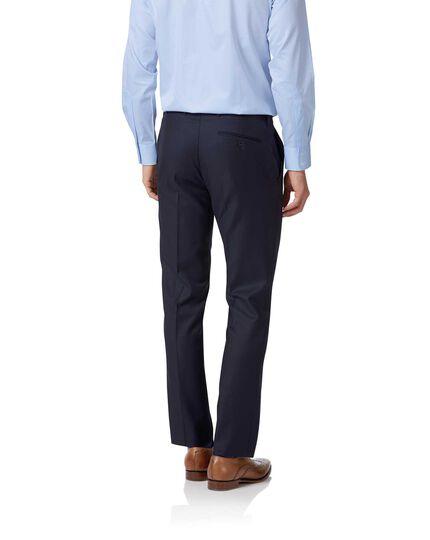 Costume de luxe bleu marine en twill italien slim fit