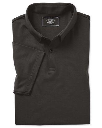 Plain charcoal jersey polo