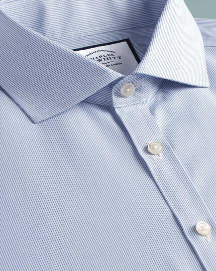 Super slim fit non-iron blue stripe Tyrwhitt Cool shirt