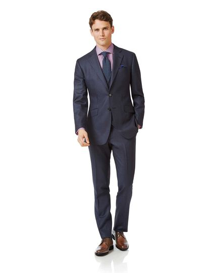 Costume business bleu acier en flanelle slim fit