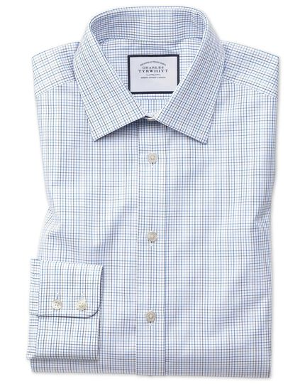 Classic fit blue multi check Egyptian cotton shirt