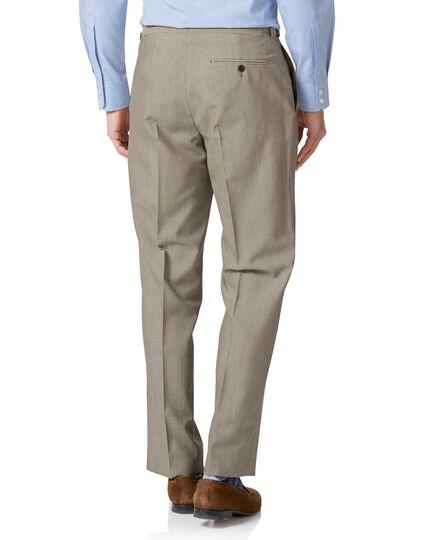 Natural Panama classic fit British suit Pants