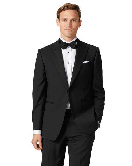 Black slim fit peak lapel tuxedo jacket