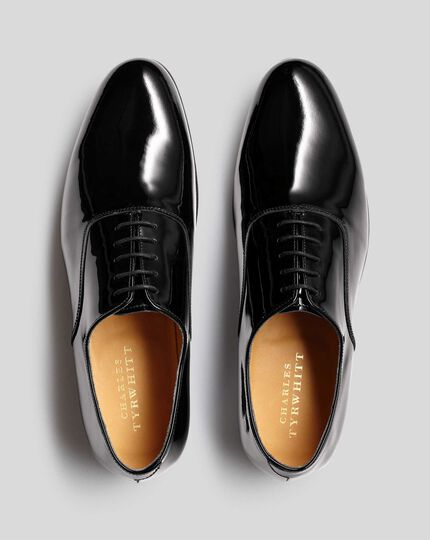Patent Oxford Shoes - Black