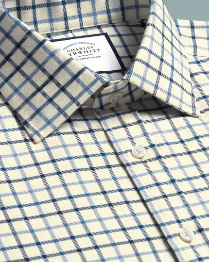 Classic Fit Hemd mit Country Karos in Blau