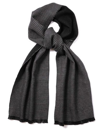 Charcoal reversible merino scarf