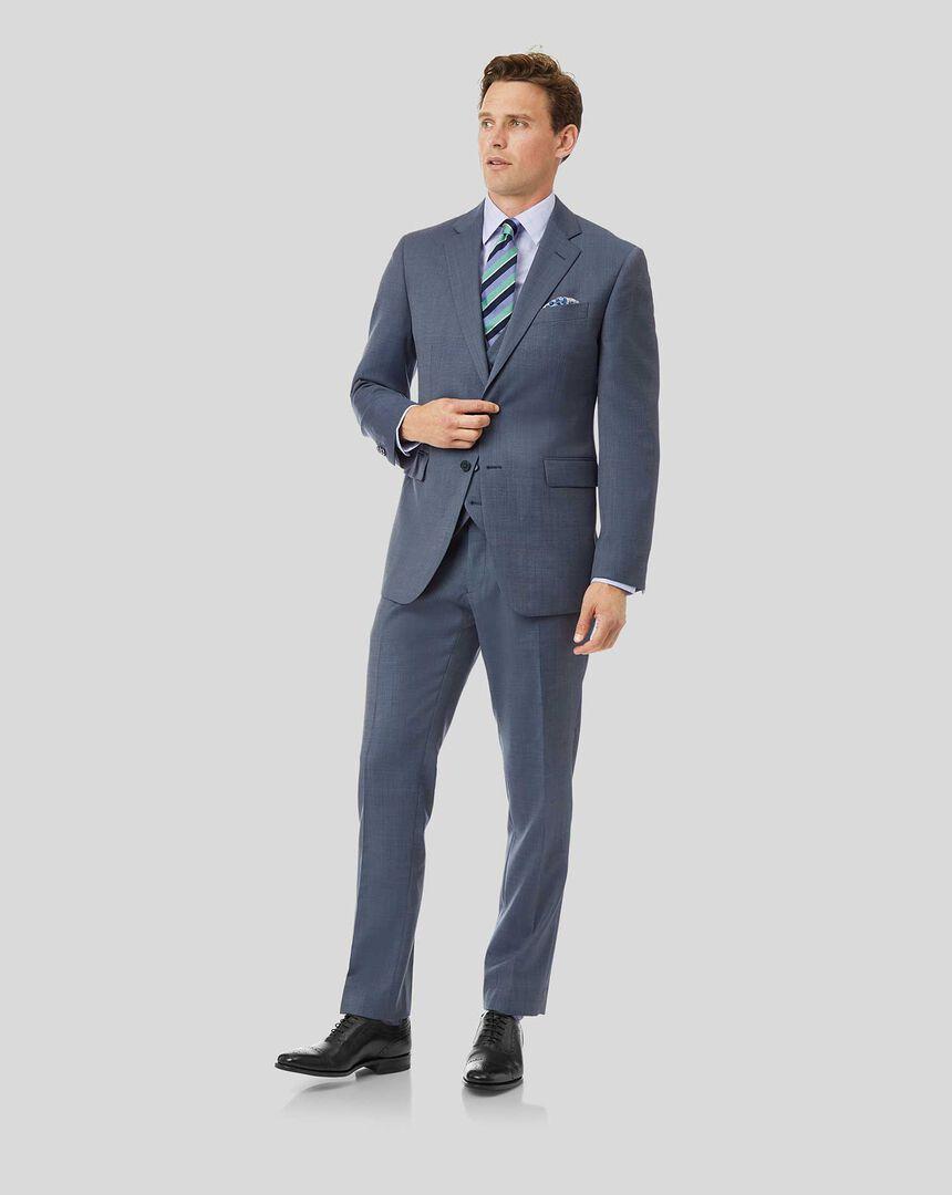 Textured Suit - Light Blue