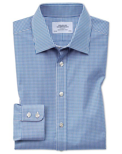 Small Gingham Shirt - Navy Blue