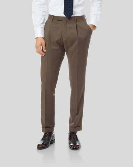 Top Drawer Suit Trousers - Tan