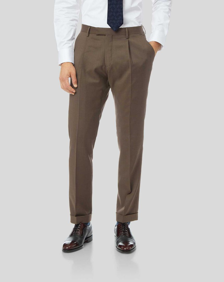 Top Drawer Suit Pants - Tan