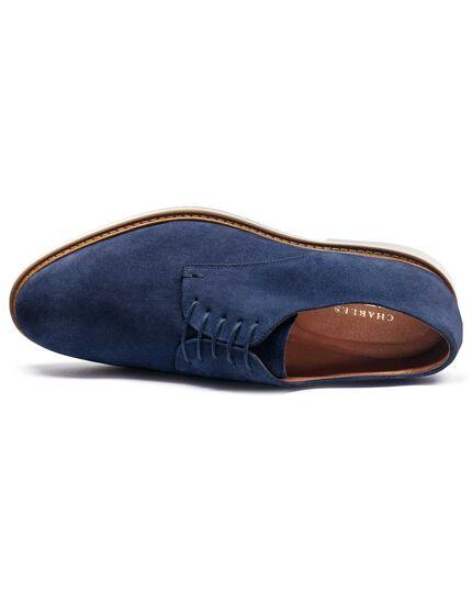 Blue Truscott suede Derby shoes