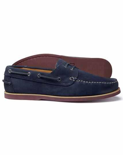 Blauwe bootschoen