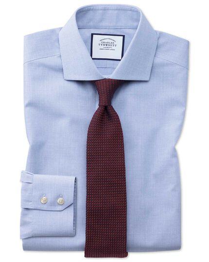 Extra Slim Fit Non Iron Cutaway Collar Sky Blue Puppytooth Shirt
