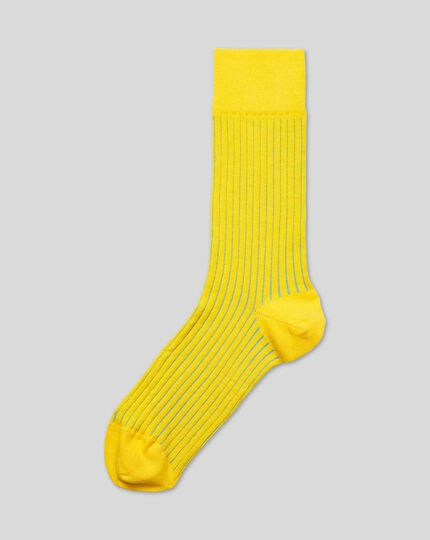 Shadow Stripe Socks - Yellow