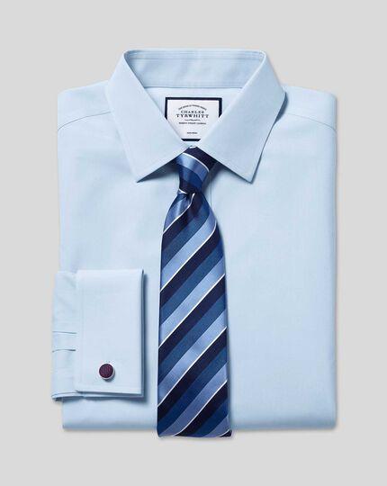 Non-Iron Poplin Shirt - Sky