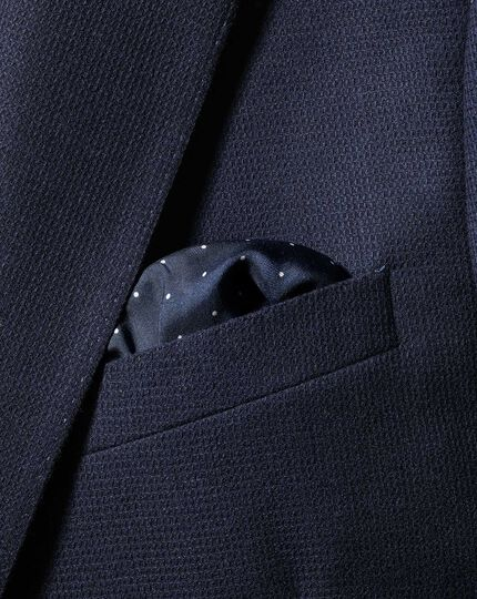 2-in-1 Silk Face Mask & Pocket Square - Navy