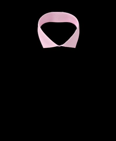 Bügelfreies Slim Fit Twill-Hemd mit Haifischkragen in Rosa