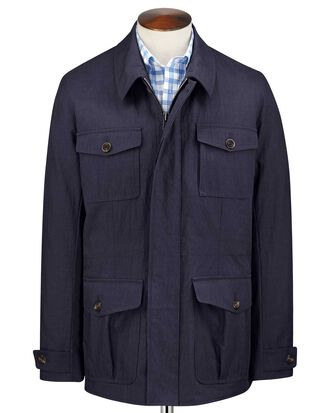 Fieldjacke in Marineblau