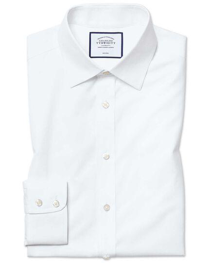 Chemise blanche en popeline coupe droite sans repassage