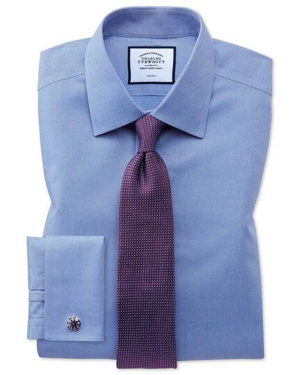 Purple silk pindot semi plain classic tie