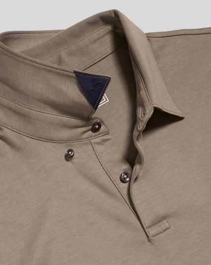 Smart Jersey Polo - Mocha