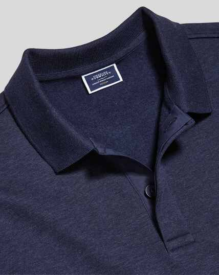 Long Sleeve Polo Sweatshirt - Navy