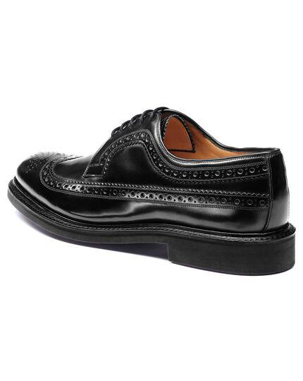 Boyton Budapester Derby Schuh mit Flügelkappen in Schwarz