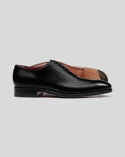Wholecut-Schuhe Made in England mit flexibler Sohle - Schwarz