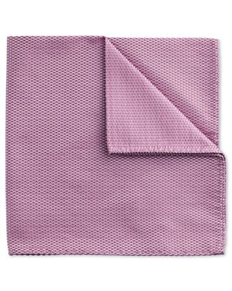 Lilac classic plain pocket square
