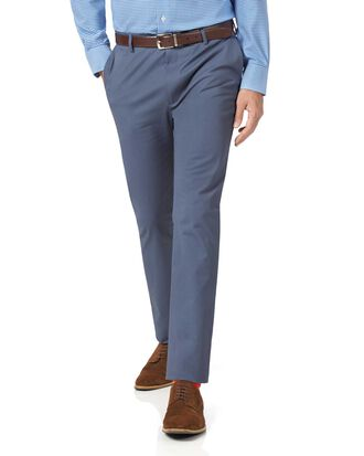 Pantalon chino bleu en tissu stretch extra slim fit