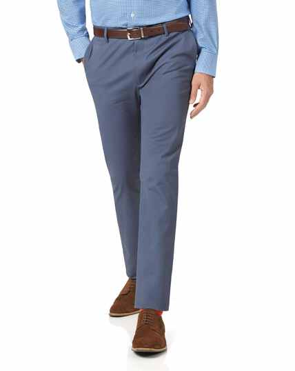 Blue extra slim fit stretch chinos