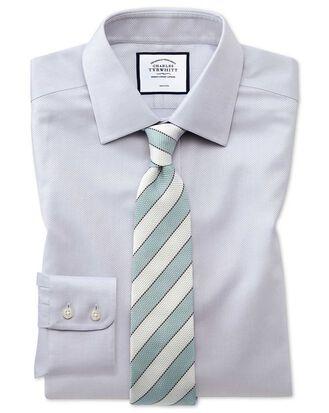 Bügelfreies Classic Fit Hemd aus Triangle Gewebe in Grau