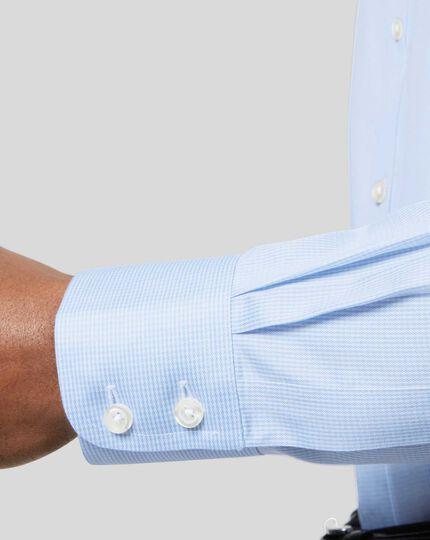 Classic Collar Non-Iron Puppytooth Shirt  - Sky