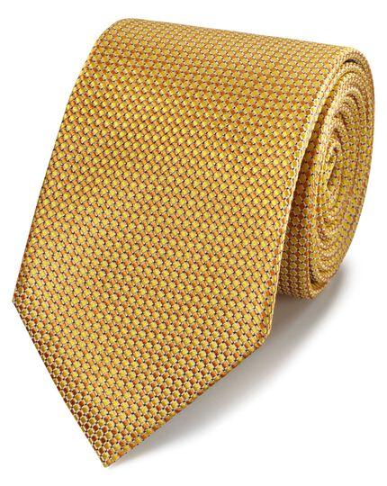Klassische Krawatte Seide in Gelb