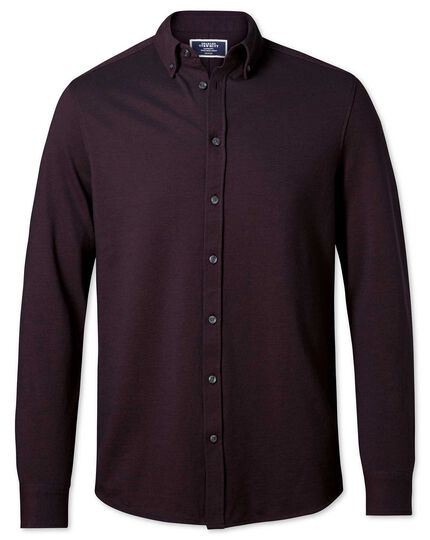 Wine Oxford jersey shirt
