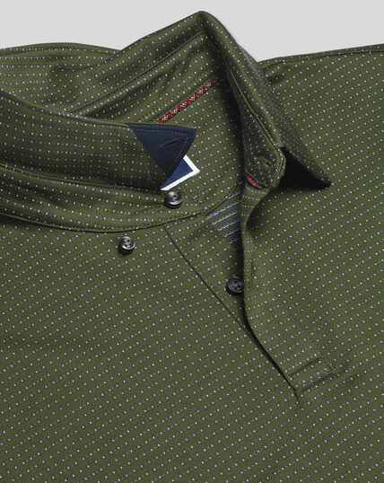 Jacquard Cotton Polo - Olive
