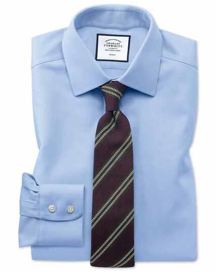 Classic fit non-iron sky blue arrow weave shirt