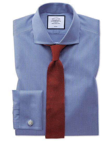 Orange silk knitted slim tie