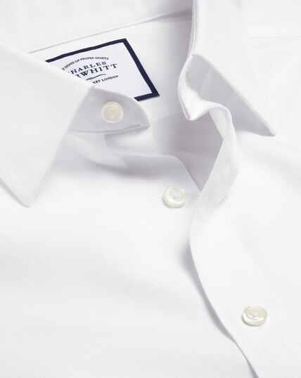 Bügelfreies Popeline-Hemd - Weiß