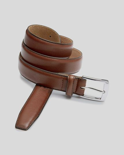 Leather Smart Belt - Tan