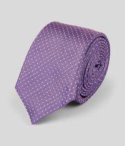 Schmale Krawatten aus Seide mit Punkten - Lila & Weiß
