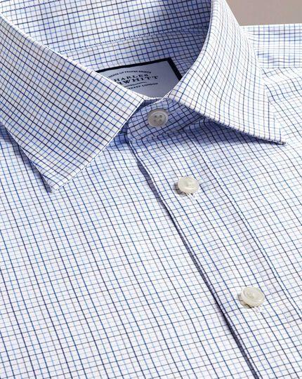Classic Fit Hemd aus ägyptischer Baumwolle mit buntem Karomuster in Blau