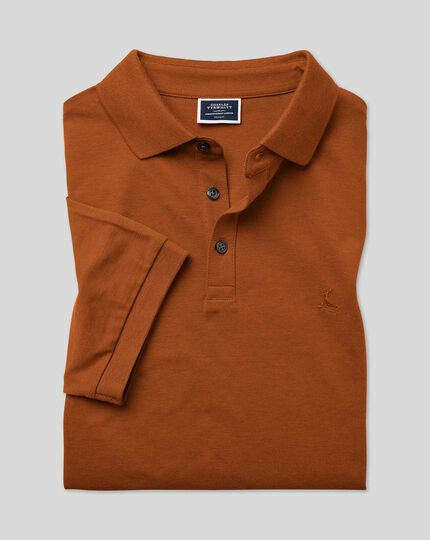 Tyrwhitt Pique Polo - Dark Orange
