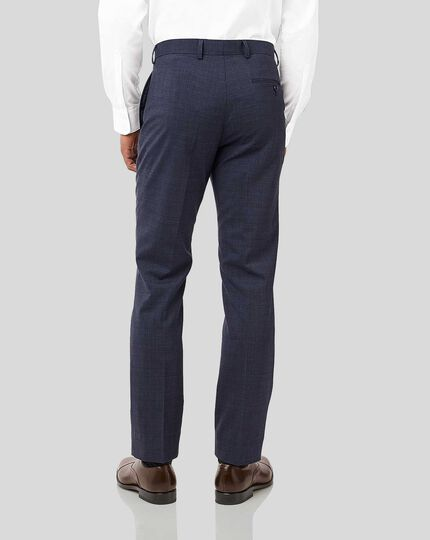 Crosshatch Suit Trousers - Airforce Blue